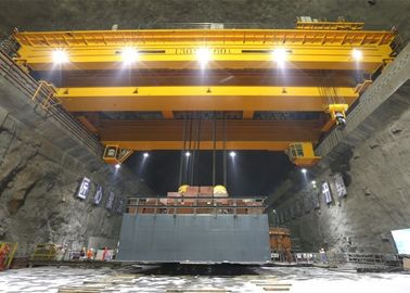 Workstation Double Girder Overhead Cranes 130/60 Ton For Hydropower Industry