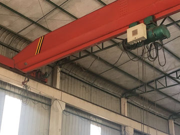 Red Single Girder Bridge Crane Overhead Travelling Crane With Chinese Configuration